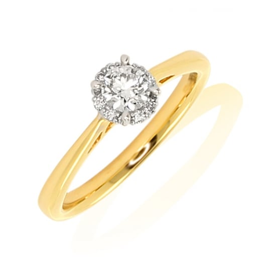 1 Stone Cluster Diamond Ring - from Sproules Jewellers UK 1b7e333ec