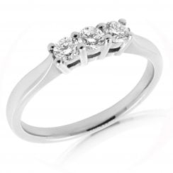 3 Stone Platinum Diamond Ring