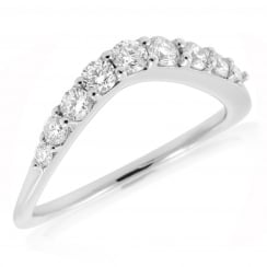 9 Stone Diamond Curve Eternity