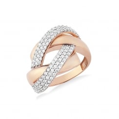 9ct Rose Gold Twist Ring