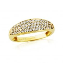9ct Stone Set Pave Ring