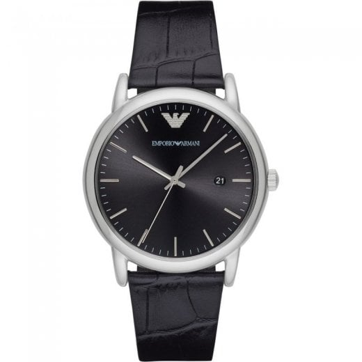 Armani Gents Luigi On A Black Strap