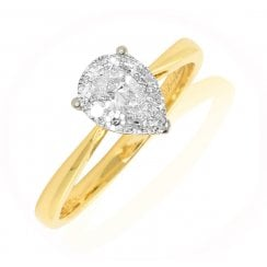 'Aurora' Pear Cluster Diamond Ring