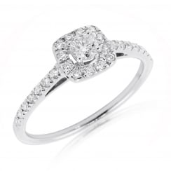 Brilliant Cluster Diamond Ring