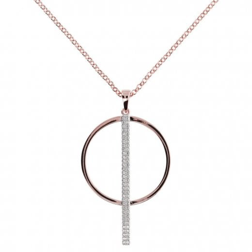 Bronzallure Altissima Circle/Bar Long Pendant