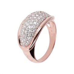 Rose Tone Cz Ring