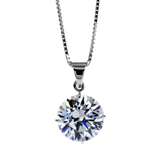 CARAT* 9ct White Gold Eternal Pendant