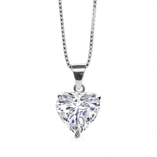 CARAT* 9ct White Gold Heart Solitaire