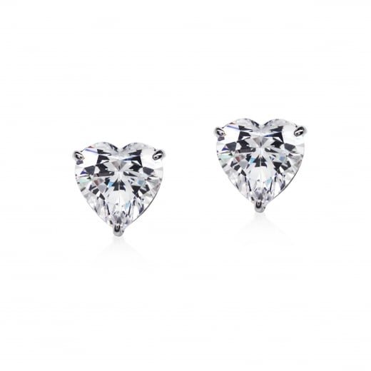 CARAT* Heart Shaped Stud Earrings