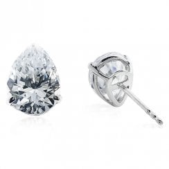 Pear Shaped 9ct Stud Earrings