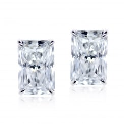 Radient Cut 9ct Stud Earrings