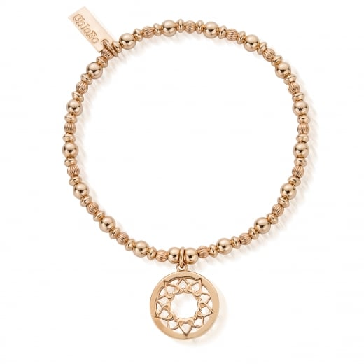 mandala rose bracelet amorium gold in l