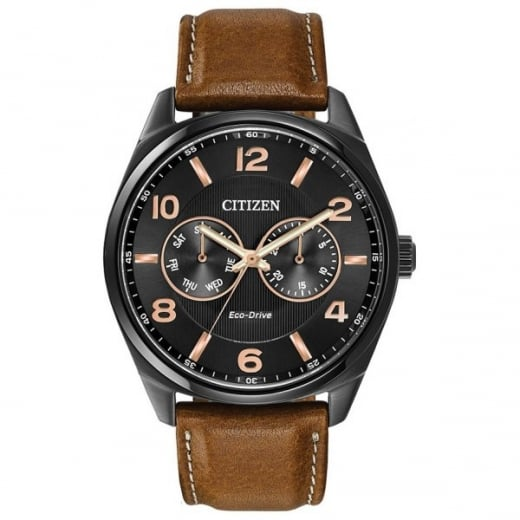 168a485eb63 Citizen Day Date Leather Strap Watch - Citizen from Sproules ...