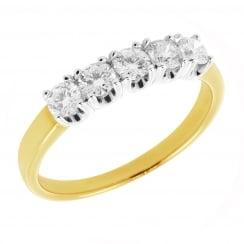 Classic 5 Stone Diamond Ring