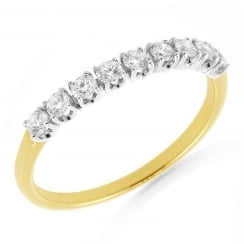 Classic 9 Stone Diamond Ring
