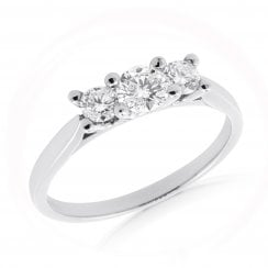 'Classic' Trilogy Diamond Ring