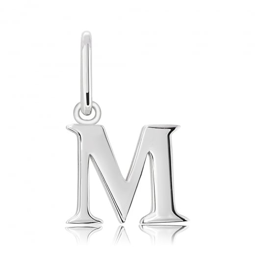 Cleo Roze Initial M silver Charm