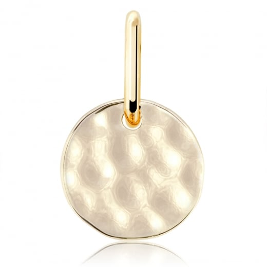 Cleo Roze Life Disc Water Finish Charm
