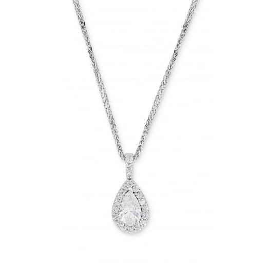 D Colour Pear Cut Diamond Pendant