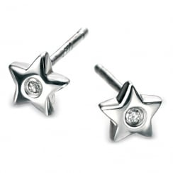Silver Stud Star Earrings