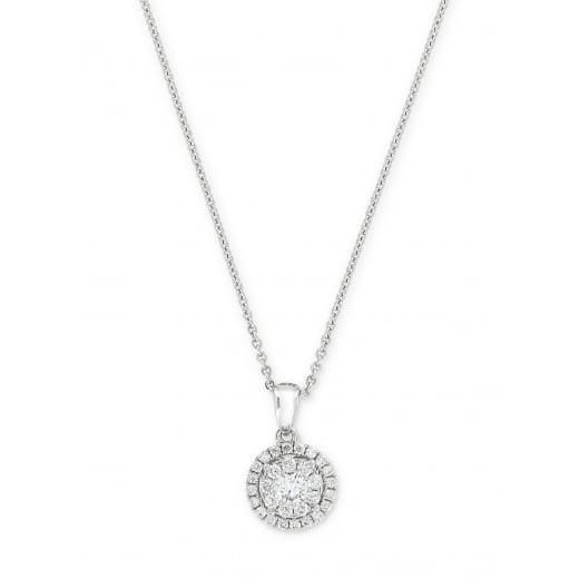 Diamond Cluster Halo Pendant