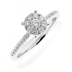 Elegant Cluster Diamond Ring