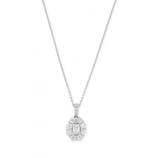 Emmerald Cut Diamond Pendant