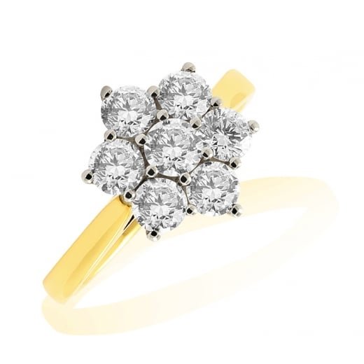 Floral Cluster Diamond Ring