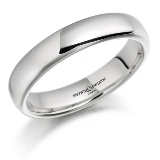 Gents 4mm Palladium Court Ring