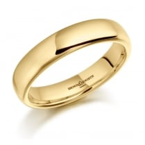 Gents 5mm 9ct Heavy Court Ring