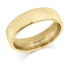 Gents 6mm 18ct Court Ring