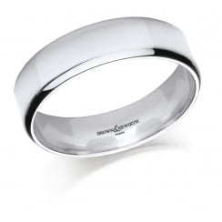 Gents 6mm Palladium Court Ring