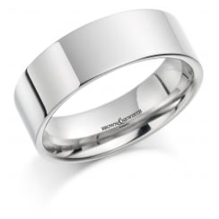 Gents 7mm Palladium Court Ring