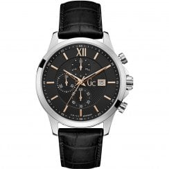 Gents GC Executive Black Leather Strap