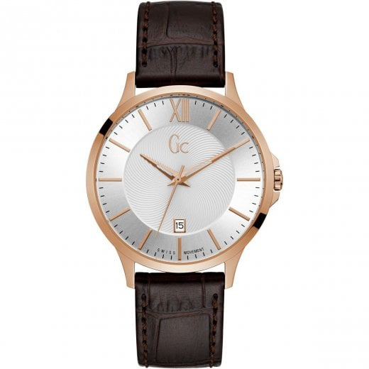 GC Gents GC Executive Brown Leather Strap