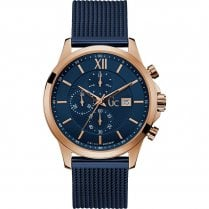 Gents GC Executive Navy Mesh Bracelet