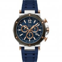 Gents GC Spirit Navy Silicone Strap