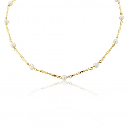 Gold Jewellery 9ct Cultured Pearl Necklace