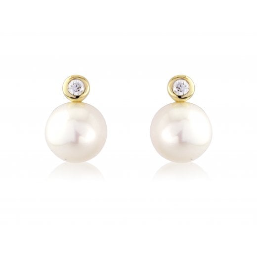 Gold Jewellery 9ct Pearl Earrings