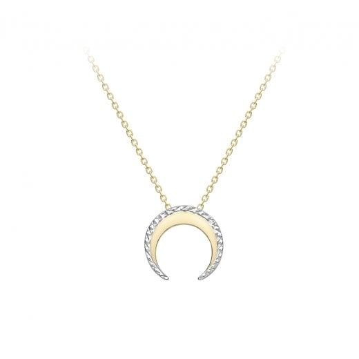 Gold Jewellery Crescent Moon Pendant