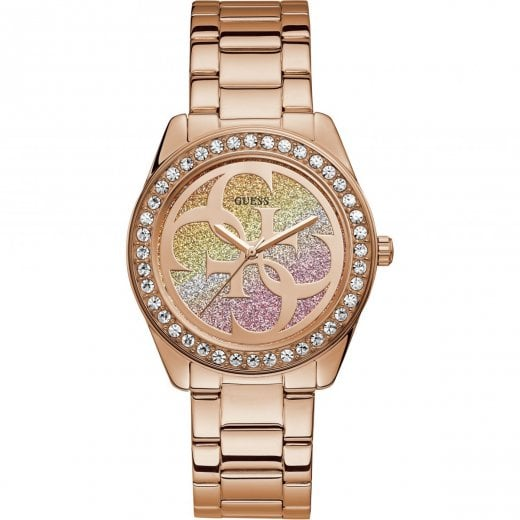 Guess Ladies G Twist Rose Bracelet