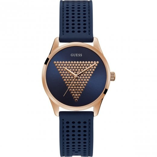 Guess Ladies Imprint Navy Strap
