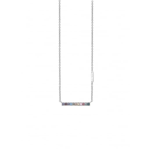metallic in necklace sydney lyst multi rainbow pendant enamel jewelry diamond evan