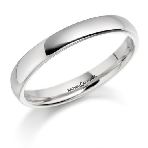 Ladies 2mm Platinum Court Ring