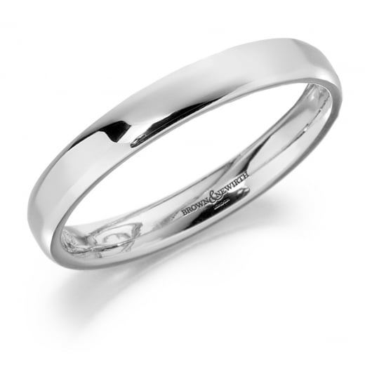 Ladies 3mm 9ct Court Ring