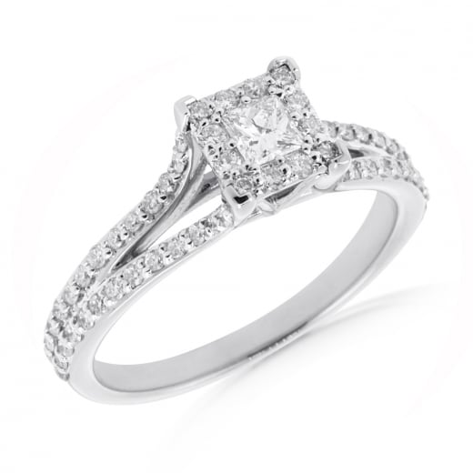 Princess Cluster Diamond Ring