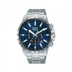 Gents Blue Dial Chronograph