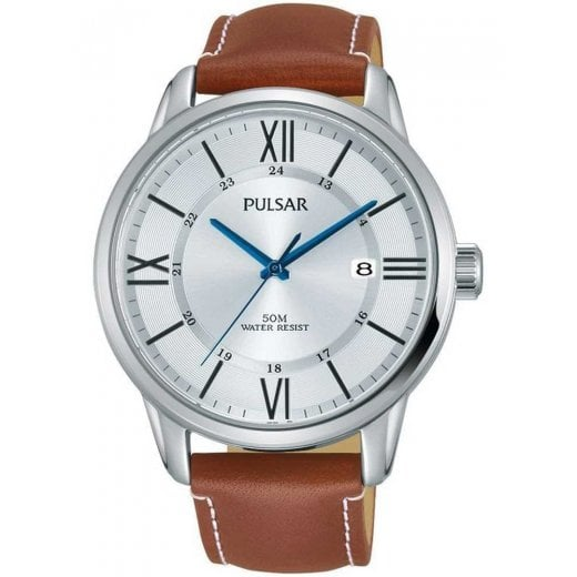 Pulsar Gents Brown Leather Strap