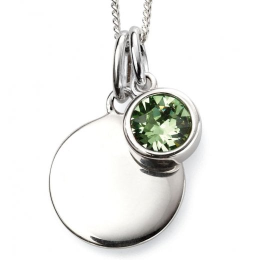 Silver Aug Birthstone +Disc