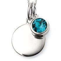 Silver Dec Birthstone + Disc